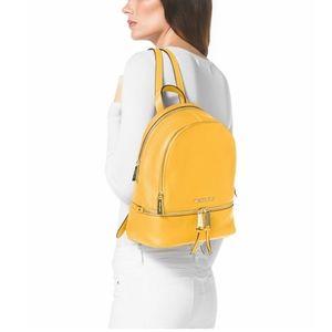 Michael Kors Sunflower Yellow Rhea Zip Backpack